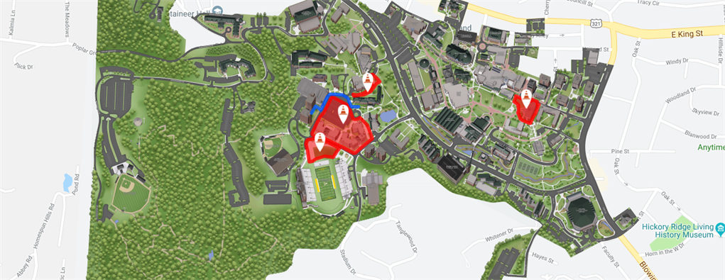 24+ App State Campus Map  Images